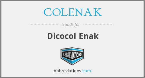 What does COLENAK stand for?