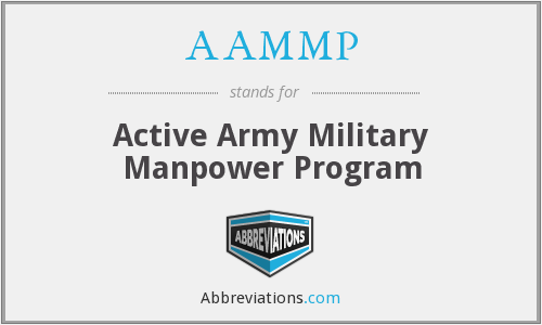 AAMMP - Active Army Military Manpower Program