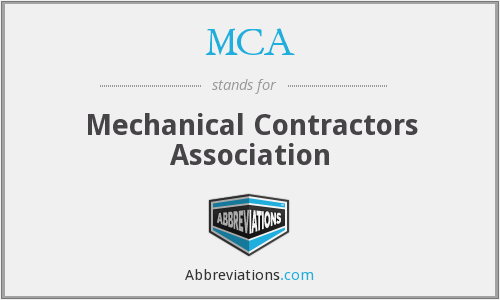 MCA - Mechanical Contractors Association