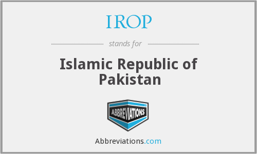 What does IROP stand for?