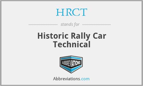 HRCT - Historic Rally Car Technical