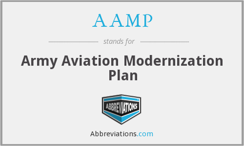 AAMP - Army Aviation Modernization Plan