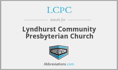 LCPC - Lyndhurst Community Presbyterian Church