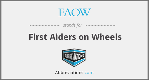 FAOW - First Aiders on Wheels