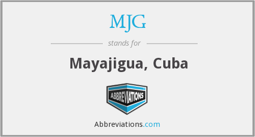 What does MJG stand for?
