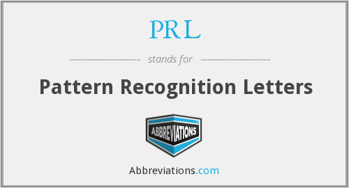 PRL - Pattern Recognition Letters