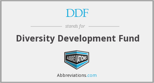 DDF - Diversity Development Fund