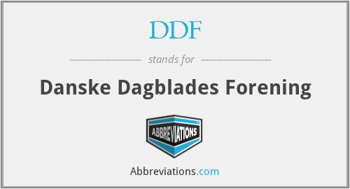 DDF - Danske Dagblades Forening