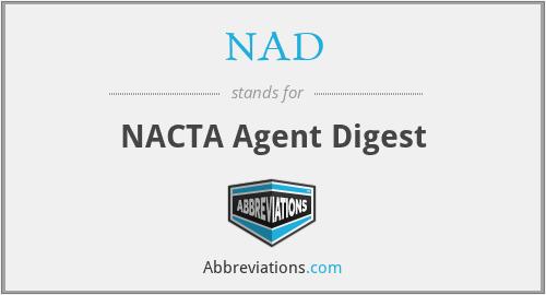 NAD - NACTA Agent Digest