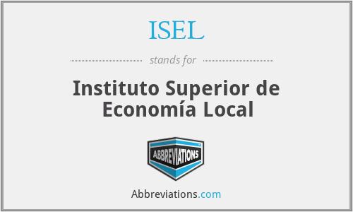 ISEL - Instituto Superior de Economía Local