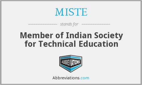 What does MISTE stand for?
