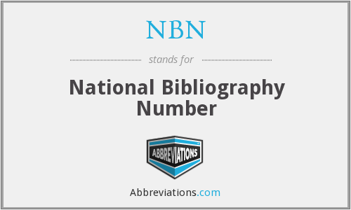 NBN - National Bibliography Number