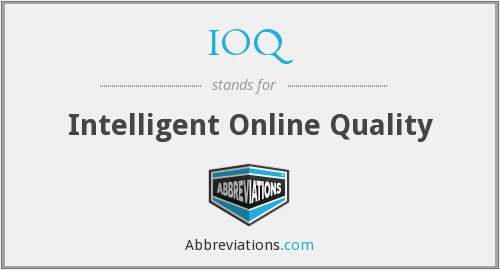 IOQ - Intelligent Online Quality