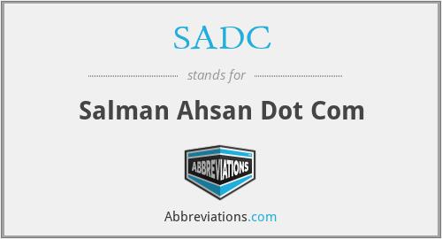 SADC - salman ahsan dot com