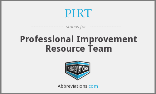 PIRT - Professional Improvement Resource Team