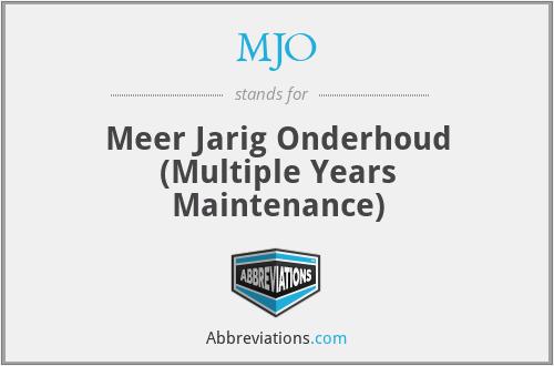MJO - Meer Jarig Onderhoud (Multiple Years Maintenance)