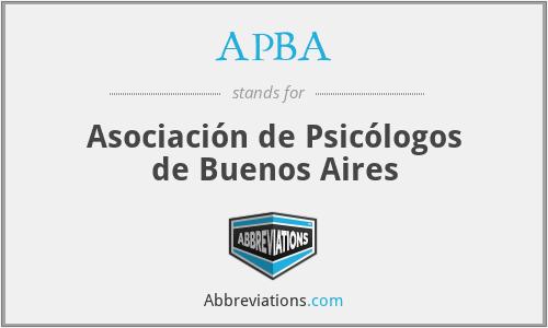 APBA - Asociación de Psicólogos de Buenos Aires