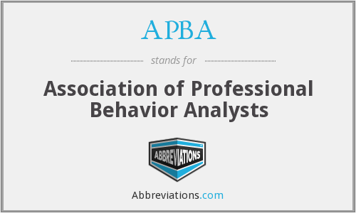 APBA - Association of Professional Behavior Analysts