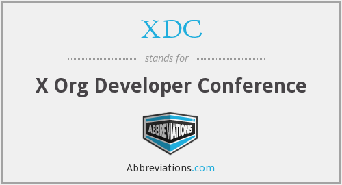 XDC - X Org Developer Conference