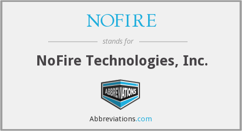 What does NOFIRE stand for?