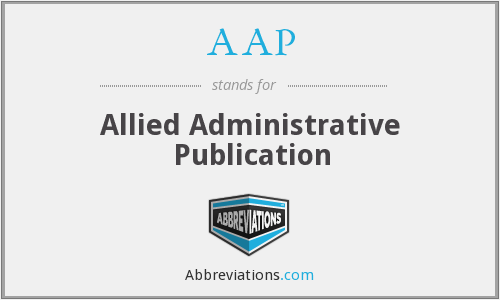 AAP - Allied Administrative Publication