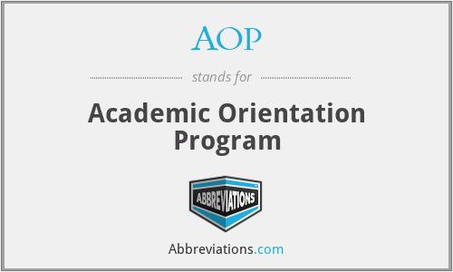AOP - Academic Orientation Program