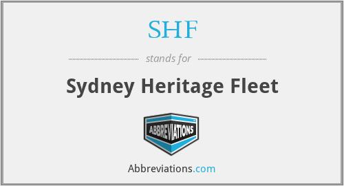 SHF - Sydney Heritage Fleet