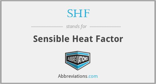SHF - Sensible Heat Factor