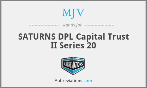 MJV - SATURNS DPL Capital Trust II Series 20