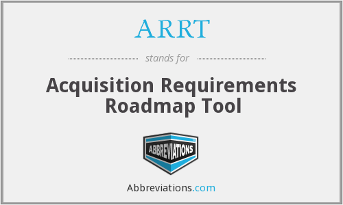 ARRT - Acquisition Requirements Roadmap Tool