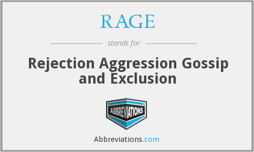 RAGE - Rejection Aggression Gossip and Exclusion