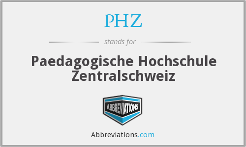 PHZ - Paedagogische Hochschule Zentralschweiz
