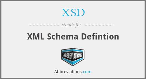 XSD - XML Schema Defintion