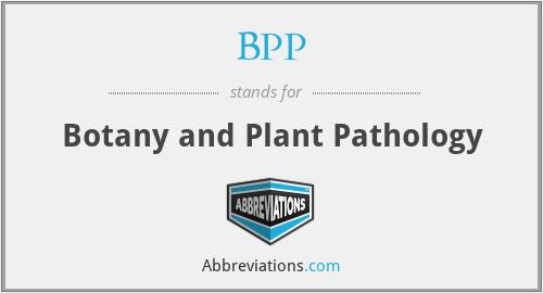 BPP - Botany and Plant Pathology