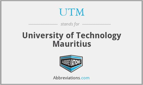 UTM - University of Technology Mauritius