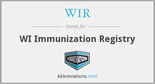 WIR - WI Immunization Registry