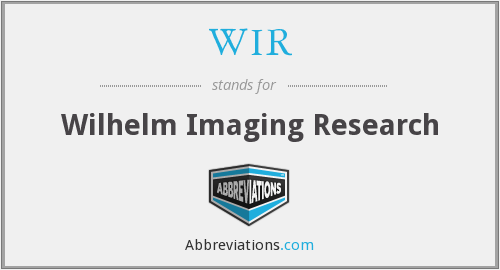 WIR - Wilhelm Imaging Research