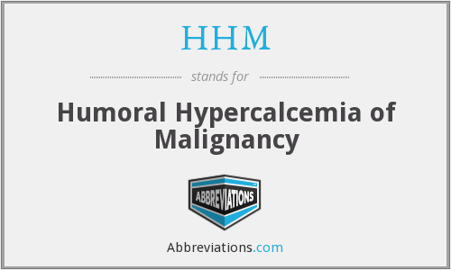 HHM - Humoral Hypercalcemia of Malignancy