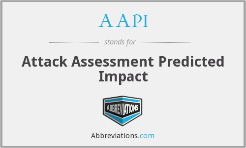 AAPI - Attack Assessment Predicted Impact