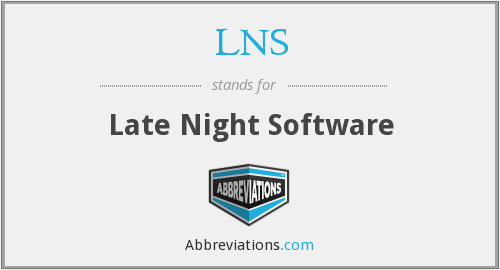 LNS - Late Night Software
