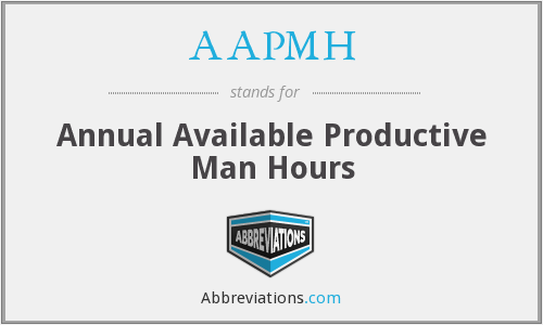What does AAPMH stand for?