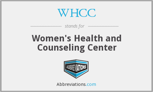 WHCC - Women's Health and Counseling Center