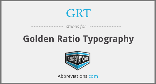 GRT - Golden Ratio Typography