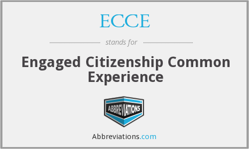 ECCE - Engaged Citizenship Common Experience