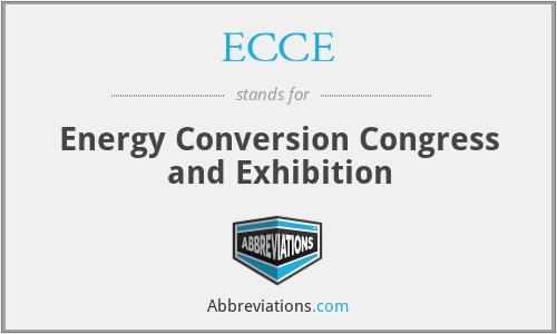 ECCE - Energy Conversion Congress and Exhibition