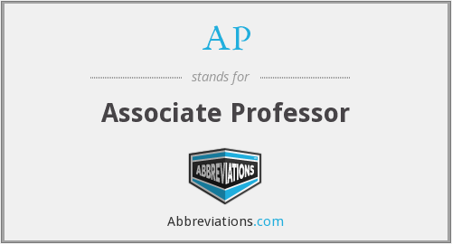 AP - Associate Professor