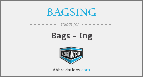 BAGSING - Bags – Ing