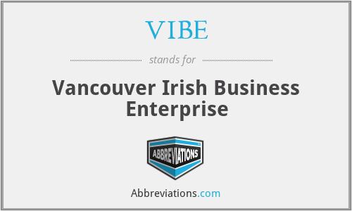 VIBE - Vancouver Irish Business Enterprise