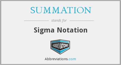 What does SUMMATION stand for?