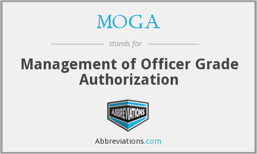 What does MOGA stand for?